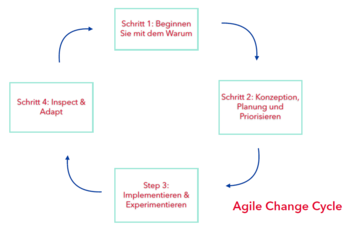 Abb.1: Der Agile Change Cyle. © HR Pioneers GmbH