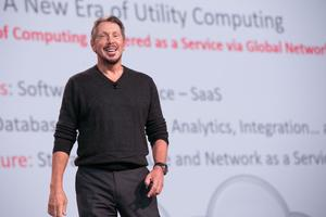 Larry Ellison: Keynote während der Oracle Open World in San Francisco © Oracle Corp.