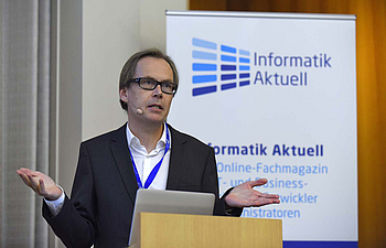 Voller Saal bei Kaj Arnö / MariaDB Corporation<br>© Christian Augustin / IT-Tage 2016