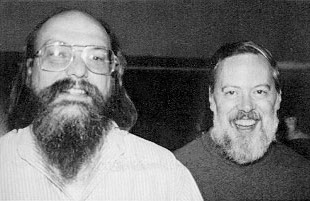 Ken Thompson und Dennis Ritchie - Public Domain